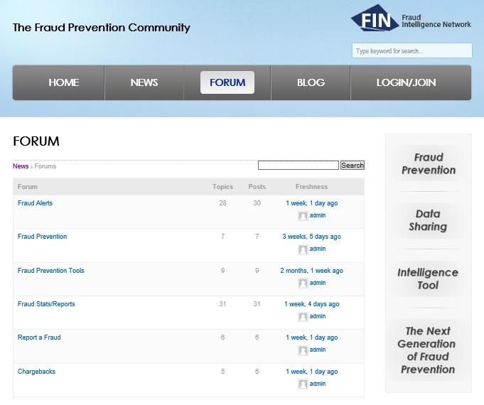 Fraud Prevention Community - Forum
